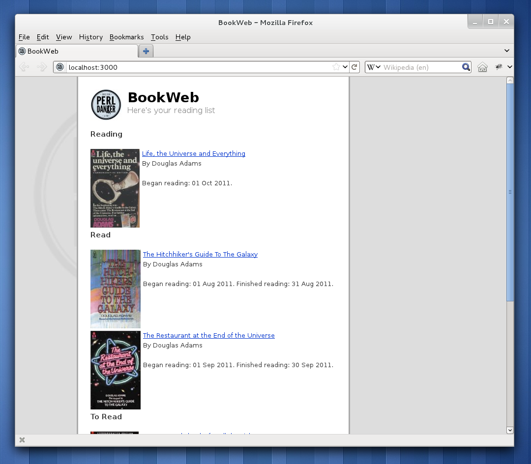 A Simple Web App - Perl Hacks
