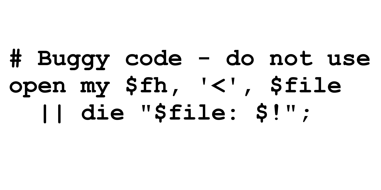Buggy Code